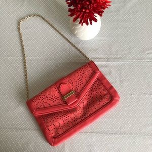 Coral Clutch with Chain